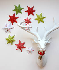 interior trendy folded paper wall stars popular snowflakes kates
