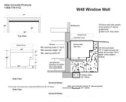 Basement Window Well Art by Egress Window Wells Product Categories Atlas Concrete