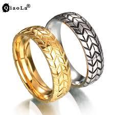 wedding rings steel images Qiao la 6mm men 39 s tire ring vintage stainless steel wedding rings jpg