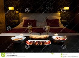 romantic dinner in a luxurious hotel stock photography image