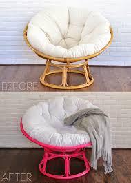 Leather Papasan Cushion by Before After Pink Papasan Chair Diy Pinterest Papasan
