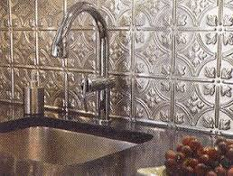 Best Metal Backsplash Images On Pinterest Backsplash Ideas - Metal kitchen backsplash