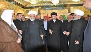 bureau president honoring ceremony of former shia endowment bureau president imam