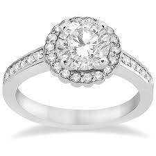 flower halo engagement ring modern flower halo engagement set 14k white gold 0 50ct