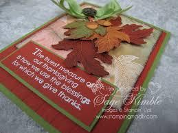 handmade thanksgiving card autumn splendor sting madly