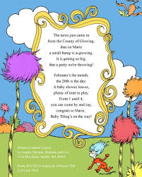 dr seuss baby shower invitations a dr seuss baby shower