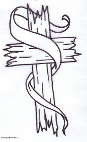 cross with ribbon tattoo designs tattoo collection