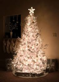 White Christmas Tree Lights 35 Neutral And Vintage White Christmas Tree Ideas Home Design