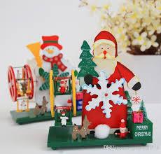 christmas ferris wheel music box santa claus snowman wooden music