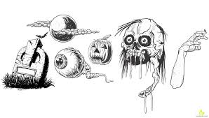 scary halloween clipart scary halloween sketches free vector u0026 clipart design