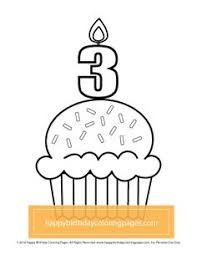 free cupcake coloring u2013 happy birthday coloring pages