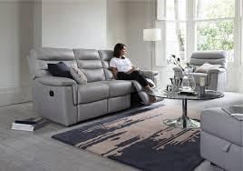 living room gray leather reclining sofa catalina piece power