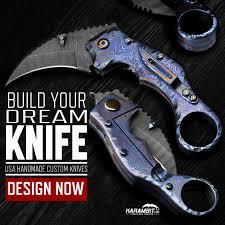 customize your own build your own custom knife karambit com