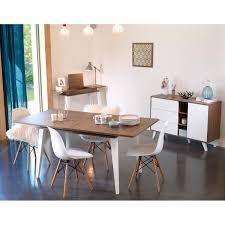 Table Avec Rallonge Pas Cher by Table à Manger Avec Allonge Prism 134 174 Cm Noyer Blanc