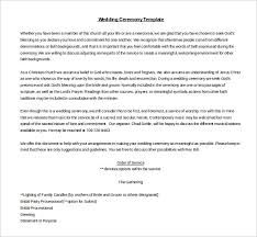 19 wedding ceremony templates u2013 free sample example format