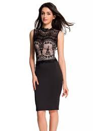 bodycon dress glamorous lace detail black bodycon dress e60488 2 cilory