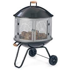 Firepit On Wheels Four Seasons Courtyard Bonefire Pit With Wheels 28 In
