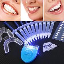 blue light whitening toothbrush 1 set teeth whitening dental bleaching tool oral gel dental trays