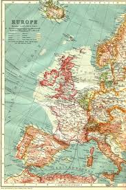 North Sea Map Map Telegraph Cables North Atlantic 1911 Full Size
