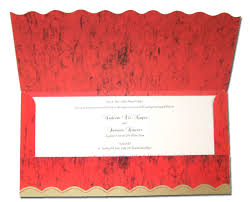 Housewarming Invitation Cards India Hw036 Cardinal Red And Gold Indian Pocket Invitations 1 15