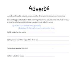 sentence starter adverbs by rdt teaching resources tes