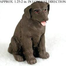 chocolate lab mini resin painted figurine labrador