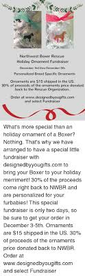 northwest boxer rescue ornament fundraiser december 3rd