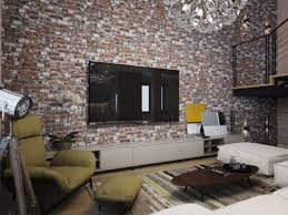 exposed brick feature wall is major highlight in this countryhouse