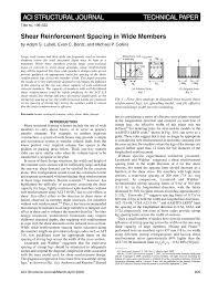 shear reinforcement spacing in wide members