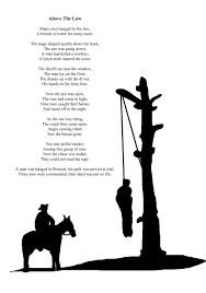 above the law sample page from poems and tales of the old west by