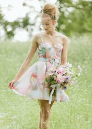 watercolor bridesmaid dresses styling your bridesmaids along with their bouquets garden