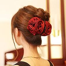 barrette hair korean beauty ribbon flower bow jaw clip barrette