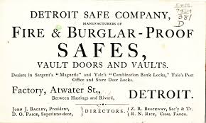 yale business card business card for detroit safe company dpl dams