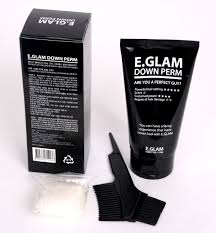 amazon com e glam down perm for men speedy easy magic straight