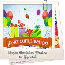 wedding wishes en espanol birthday wishes in deseos de feliz cumpleaños en españa