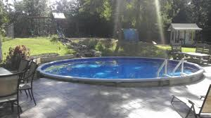 dropping an above ground pool in the ground youtube
