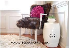 fur chair cover beautiful design ideas faux fur chair cover living room