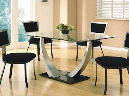 dining room small square glass dining table and 2 chairs in