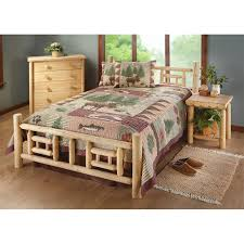 castlecreek twin deluxe cedar log bed 235872 bedroom sets at