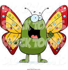 stock cartoon of a happy talking butterfly by cory thoman 8425