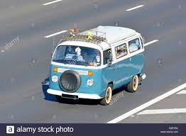 volkswagen camper classic vw volkswagen camper van driving along english uk motorway
