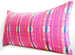 Bolster Cushion Pad Long Bolster Pillow Pink Lumbar Pillow 12x22 Inch Bohemian Bedding