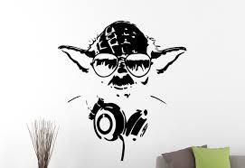 wall decals stickers home decor home furniture diy master yoda vinyl decal star wars wall sticker movie hero art room decor 2ewsx