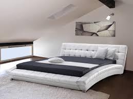 Schlafzimmer Komplett Lederbett Lederbett Weiss Lattenrost 180 X 200 Cm Lille Beliani De