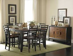 two tone dining room sets two tone finish modern counter height dining table w options