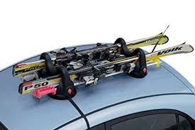 porta sci auto porta sci per auto magnetico sabre con antifurto montaggio