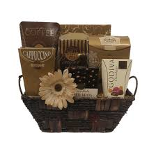 coffee and tea gift baskets cafe gourmet gift basket by pompei baskets
