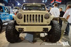 jeep j8 military 2017 sema black forest jeep tan j8 l
