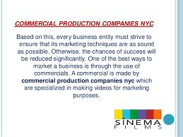 production companies nyc how important is a commercial production company for marketing