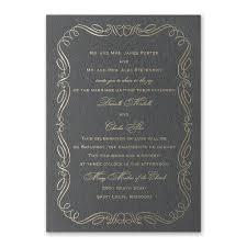 calligraphy invitations calligraphy border foil invitation invitations by